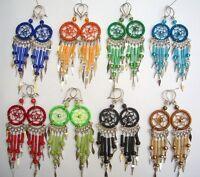 WHOLESALE 40 PAIRS EARRINGS DREAM CATCHER THREAD PERU Beautiful colors