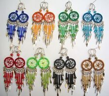 WHOLESALE 160 PAIRS EARRINGS DREAM CATCHER THREAD PERU Beautiful colors
