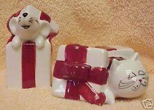 CAT & MOUSE CHRISTMAS SALT & PEPPER SHAKERS