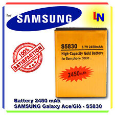 Batteria GOLD MAGGIORATA 2450mAh SAMSUNG S5830 GALAXY Ace Giò Wave - NO DOGANA