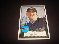 Casey Janssen Blue Jays  2006 Topps '52 RC #64 Signed Authentic Autograph 920