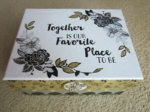 "Together Is Our Favorite Place To Be Keepsake Trinket Box 4 1/4"" H x 9"" L x 7"" W"