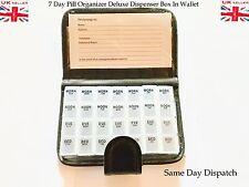 7 DAY PILL WALLET BOX MEDICINE TABLET ORGANISER HOLDER STORAGE TRAVEL DISPENSER
