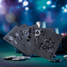 Waterproof Black Diamond Poker Creative Standard Playing Cards Magic Tricks Tool