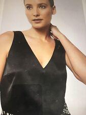 5c9a28f6203e4b Women s witchery silk v neck tank top black current season bnwt 16