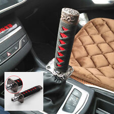 Universal Black+Red 15cm Samurai Sword Gear Shift Knob Shifter Katana Metal JDM