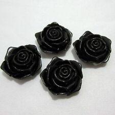 Fashion DIY 10pcs nice 18mm Pearl rose flower Scrapbook Craft Flatback Beads