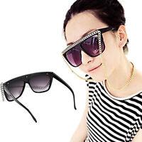 HN- Womens Chain Sunglasses Lady Glasses Eyeglasses Hip Hop Punk Party Decor Mys