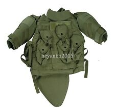 US MILITARY TACTICAL AIRSOFT PAINTBALL OTV COMBAT VEST - COLORS GREEN