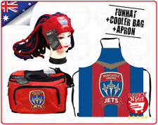 A-League Newcastle Jets Dreadlock Hat + Cooler Bag + Apron Official Merchandise
