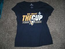 "NHL, ""Fanatics"" women's,Pittsburgh Penguins, logo tee, size adult medium, vg"
