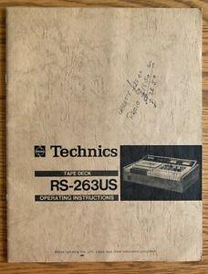 Instruction Manual ORIGINAL Technics RS-263US Tape Deck operating instructions