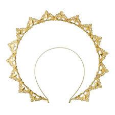 1pc Vigin Marry Halo Crown Headband Golden Metal Spike Headpiece Hair Accessory