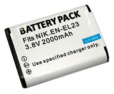 Battery For Nikon Coolpix EN-EL23  ENEL23 P600 P610 P610S S810C P900 P900s B700
