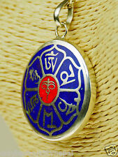 Amulett Mantra Mandala Indien Chenresing Anhänger Tibet a75