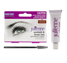 Julienne Eyelash and Eyebrow Permanent Dye Light Brown 04 Colour Tint 15ml