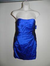 Davids Bridal Dress Horizon Blues Sz 8 Strapless Lace Bands Bridesmaid NWT $149