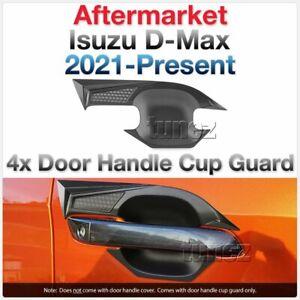 Black Door Handle Cup Guard Cover Protector For Isuzu D-Max DMax RG 2021 2022 AT