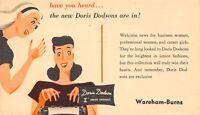 Ottumwa IA Doris Dodson's Career Girl Fashions~Shoulder Pads~Wareham-Burns~1948