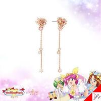 Clue X Wedding Peach Beautiful Flower Peach Blossoms Silver Earrings Authentic