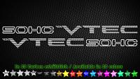 SOHC NON VTEC SET Honda Civic CRX Accord Tuning Sticker Aufkleber 40cm x 7cm