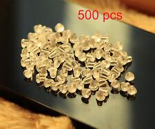NEW Lots 500Pcs Rubber Earring Back Stoppers Ear Stud Post Nuts Earring Findings
