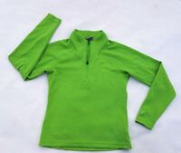 Salomon womens long sleeve knit shirt small green quarter zip