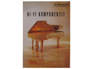 PIONEER CATALOGUE / PROSPEKT HI-FI KOMPONENTIT 1992  New Old Stock   #7