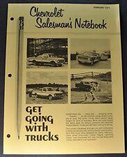 1971 Chevrolet Pickup Truck Dealer Only Brochure Folder Excellent Original 71