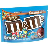 M&M'S CHOCLATE MINIS CANDY SHARING SIZE BAG - 10.10oz BAG - PACK OF 4