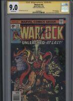 Warlock #15 CGC 9.0 SS Jim Starlin 1975 Thanos appearance