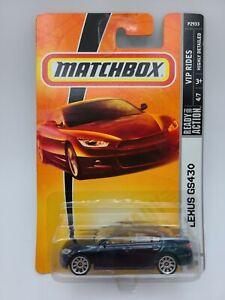 MATCHBOX LEXUS GS430 VIP RIDES P2933 MB37 VHTF RARE FREE SHIPPING