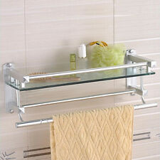 19 bathroom glass shelf storage holder shower towel rack wall mounted modern - Bathroom Glass Shelves