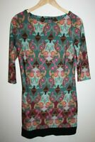 Atmosphere Women's Office Casual 3/4 Sleeve Tunic Dress Top Multi Floral Size 12