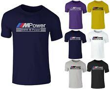Mens Crew Neck BMW Mpower M Sport Racing Car Auto Cotton T-Shirt Top Tee S-XXL