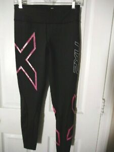 2XU L Women's 7/8 Compression Tights Black/Pink