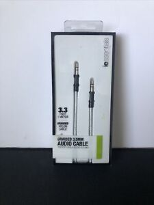 New In Box iessentials Braided Nylon Audio Cable 3.3Ft Tangle free IE-FC-AUX