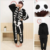 Skeleton Unisex Adult Suit Pajamas Kigurumi Anime Cosplay Costume Sleepwear New