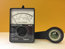Simpson 408-2 15/50/150/500 Foot Candles Illumination Level Meter. Tested!