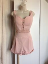 Light Pink Playsuit Size M Lace Panelled Summery Party Clubwear