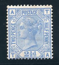 QV 1880-83 Sg 157 -- 2 1/2d blue plate 23 ( T A ) Lightly mounted mint own gum