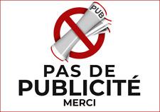 2x Sticker STOP PUB - Autocollant PAS DE PUBLICITÉ - Adhésif boîte aux lettres