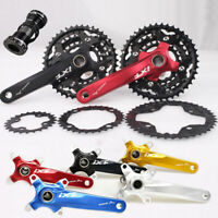 104BCD 30 Speed MTB Bike Crankset 24/32/42t Chainring 170mm Crank Bottom Bracket
