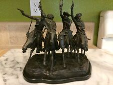 """VTG. Signed Frederic Remington Bronze """"Off The Range""""  """"Coming Through The Rye"""""""