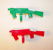 Vintage 1960s Set of 2 Plastic Tommy Gun Clicker Toy