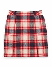 NEW Boden British Tweed by Moon Mini Check Print Skirt Size US 18 S *