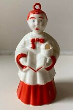 Pair of CHOIR BOY ORNAMENTS great condition each has a jingle bell and hanging loop 1950\u2019s 3\u201d tall