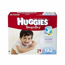 Huggies Snug and Dry Diapers, Size 4, Economy Plus Pack, 192 Count , New, Free S