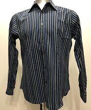 Michael Kors Blue Stripes Botton Down Men Long Sleeve Size Medium