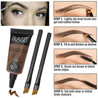 Brown Waterproof Tint Eyebrow Henna With 2PC Mascara Eyebrows Paint Brush Makeup